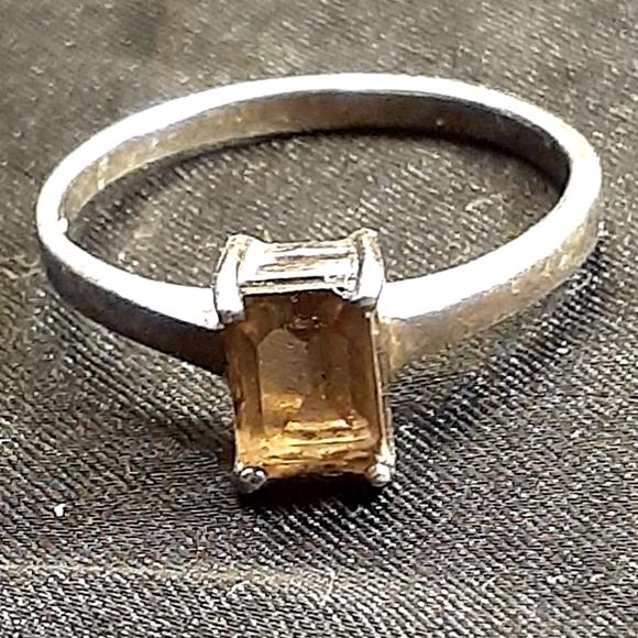 💍Smoky Topaz & Sterling Silver Ring, Size 8💍